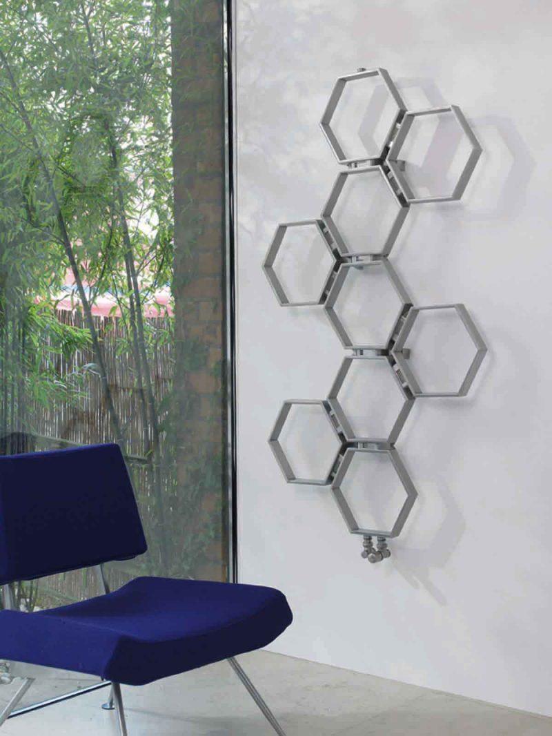 Honeycomb designradiator i rostfritt