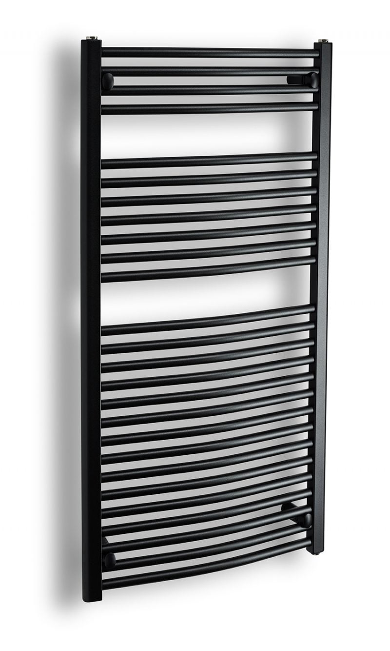 Komfort böjd 120x60 matt svart